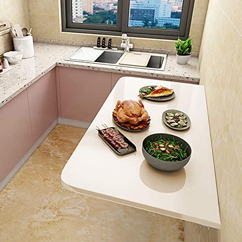 AQAQ Escritorio Plegable, Mesa de Comedor de Cocina Flotante, Escritorio de Computadora Plegable para Espacios Pequeños, Mesa Colgante para Estudio, Dormitorio, Oficina o Balcón