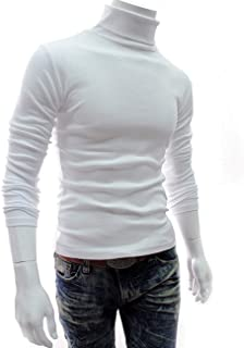 Mens Casual Slim Fit Basic Tops Knitted Thermal Tops Turtleneck Pullover Sweater