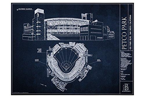 Petco Park Blueprint Style Print