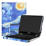 Alapmk Protective Case Cover for 12.3' Samsung Chromebook Pro XE510C24 XE510C25/Chromebook Plus XE513C24 Laptop(Warning:Not fit New Samsung Chromebook Plus V2 XE521QAB-K01US),Starry Night