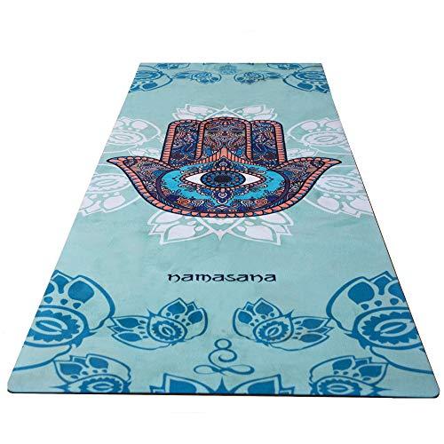 NAMASANA Juego de alfombrillas de yoga de lujo, ecológicas, antideslizantes, ideales para yoga y pilates calientes.