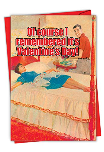 NobleWorks - Funny Valentines Day Card for Adults - Naughty Valentine, Spouse Notecard with Envelope (1 Card) - Memory Foam 2188