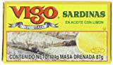 Vigo Sardines in Oil with Lemon, 4.375-Ounce Cans (Pack of 10)