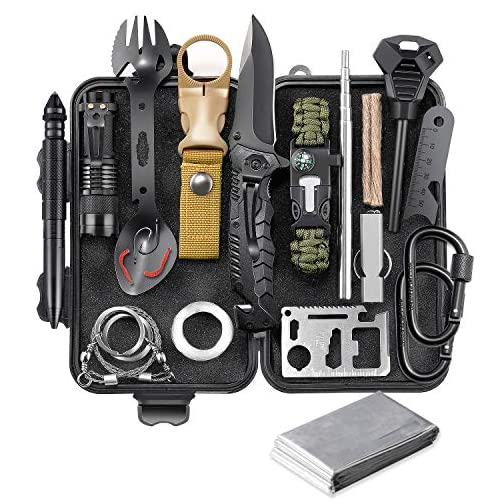 EILIKS Survival Gear Kit, Emergency EDC Survival Tools 24 in 1 SOS Earthquake Aid Equipment, Cool Top Gadgets Valentines… 3