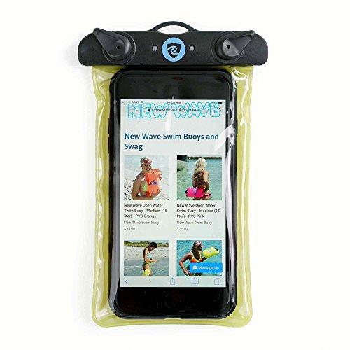 New Wave wasserdichte Handy Hülle – Universal Smartphone Hülle Swim Buoy Waterproof Phone Case & Dry Bag Pouch from Swim Buoy