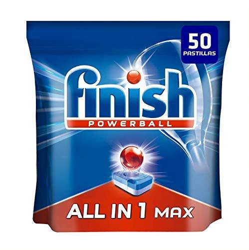 Finish, Finish All in 1 Max, Normale, Pastiglie per lavastoviglie Regolare 50 Unidad Nero