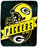 Officially Licensed NFL Green Bay Packers 'Grand Stand' Plush Raschel Throw Blanket, 50' x 60', Multi Color