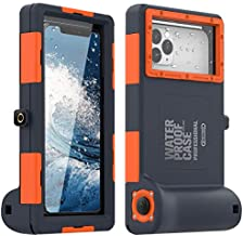 Diving Phone Case for iPhone Samsung, Professional Underwater Photography Housings Case with Lanyard[50ft/15m], Diving Case for iPhone 12/12Pro/12Mini/11/11Pro/11 Pro Max/XR/8/8Plus/7/7 Plus/6/ Etc