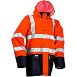 Lyngsoe Jacke, Größe S, hi-viz orange / marine blau, 1 Stück, LR37-05/03-S