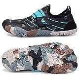 Boys & Girls Kids Water Shoes Lightweight Comfort Sole Easy Walking Athletic Slip on Aqua Sock(Toddler/Little Kid/Big Kid) U420WZ2001-M.Aqua-35