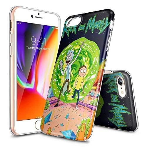 Custodia per iPhone X/XS, ultra sottile, trasparente, in TPU, antiurto, antigraffio, modelli personalizzabili [LZX20190464] iPhone 6 / 6s Plus RICK AND MORTY