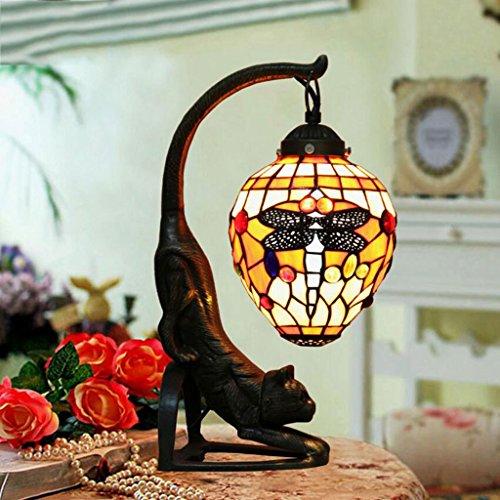 Lampe de table lampe de bureau Lampe de table en verre lampe de table chambre à coucher salon lampe de bureau simple et créative couleur de la mode lampe de table décorative, E27