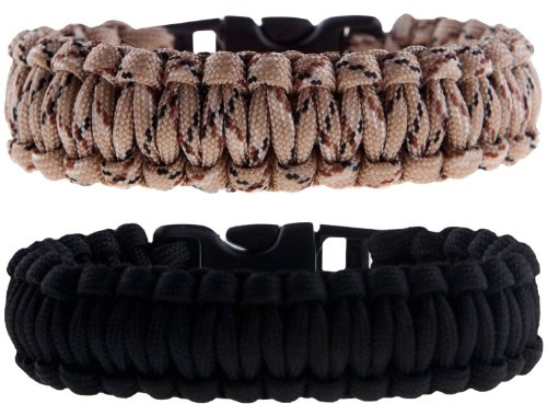 The Friendly Swede Paracord Survival Bracelets - Set of 2 - Easy to Open Clasp