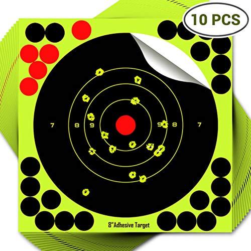 Borstu 10/25 PCS Zielscheibe Reaktives selbstklebendes Dartpapier Pistole Schießen Ziel Aufkleber Bogen Pfeile zielen Aufkleber
