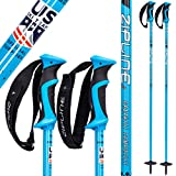 Ski Poles Graphite Carbon Composite - Zipline Blurr 16.0 - U.S. Ski Team Official Supplier (Tropical Blue, 36' in./90 cm)
