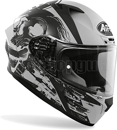 MOTOTOPGUN Airoh VAA35 Casco de moto integral gris mate Valor Akuna talla L