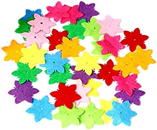 NEW-Craft Toys - 80Pcs Creative Non-woven Flower Patch Children Handmade Materials Petal Pattern Kids Patches Sewing Craft...