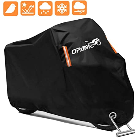 210D Waterproof Motorcycle Cover All Weather Outdoor Protection,Oxford Durable /& Tear Proof,Precision Fit for Length 87 inch WDLHQC Motorcycle Cover