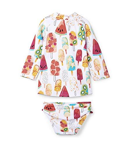 Hatley Mädchen Rash Guard Sets Badebekleidungsset, ((Whitefruity Popsicles), ((Herstellergröße: 7 Jahre)