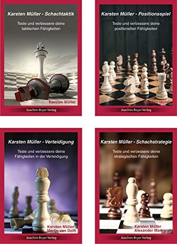 Karsten Müller - 4er Bundle: Schachtaktik + Schachstrategie + Verteidigung + Positionsspiel