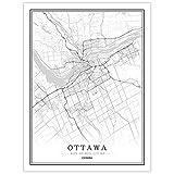 Leinwanddrucke,Kreative Schwarz Und Weiß Ottawa City Kein
