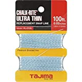 TAJIMA Replacement Snap-Line - 0.5 mm x 100 ft Chalk-Rite Braided String for Ultra-Thin & Precise Markings - PL-ITOS