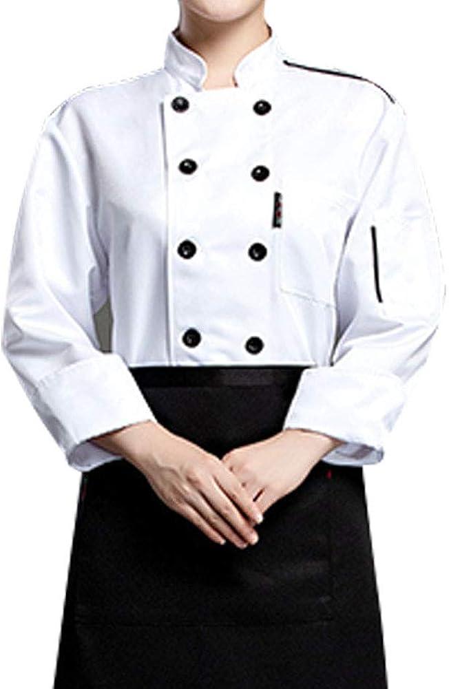 Nanxson Unisex Chef Jacket Hotel/Kitchen Uniform Workwear Long Sleeved Double-Breasted Chef Vest Coat CFW1002