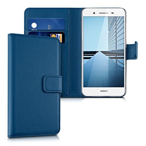 kwmobile Huawei GR3 / P8 Lite SMART Hülle - Kunstleder Wallet Case für Huawei GR3 / P8 Lite SMART mit Kartenfächern & Stand - Blau