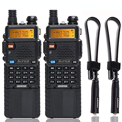 2 Pack BaoFeng UV-5R High Power Tri-Power Portable Two-Way Radio