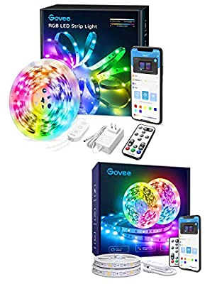 Smart LED Strip Lights, Govee 16.4FT 32.8FT LED Color Changing Lights with Alexa, APP Control, Remote and Control Box, 7 Scenes Mode and Music Sync LED Lights for Room, Kitchen, Party