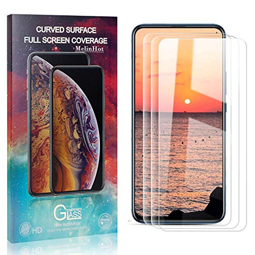 MelinHot Displayschutzfolie für Huawei Y9 Prime 2019, 9H Härte Anti Fingerprint Displayschutz, Schutzfilm aus Gehärtetem Glas mit 3D Touch, 3 Stück