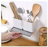 Küchenablage Schwammhalter Küche Drainer Rack Geschirrkorb zum Aufhängen mit 2 Saugnäpfen für...