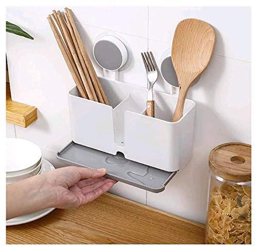 Küchenablage Schwammhalter Küche Drainer Rack Geschirrkorb zum Aufhängen mit 2 Saugnäpfen für Schwamm, Bürste, Topfkratzer, Essstäbchen
