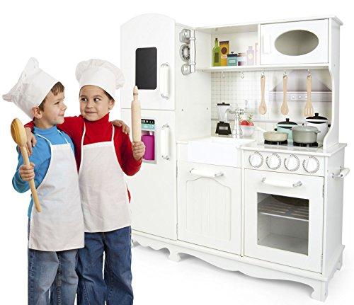 Unbekannt Leomark Holzküche Big Vintage Große Retro Küche aus Holz Kinderküche Spielküche Zubehör Kitchen Kinderspielküche Küchenspielzeug Spielzeug Küche aus Holz - 9