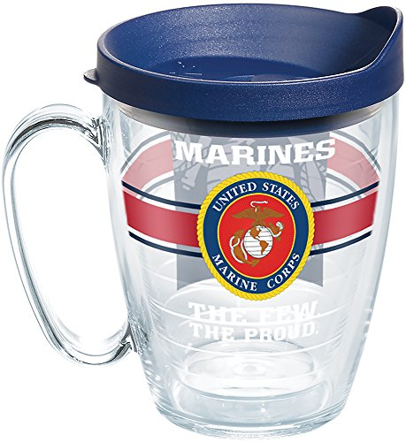 Tervis Caneca Marines Pride Tumbler with Wrap and Navy Lid 473 ml, transparente