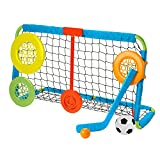 Fisher-Price Let's Goal Sports Net, outdoor soccer and hockey toy sports equipment set for preschool kids ages 3 years and older