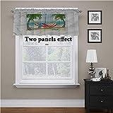 Adorise - Cortina de cortina para playa, hamaca entre árboles, tratamiento para ventanas cortas, para niños, niña, cuarto de bebé, 42 x 44 pulgadas