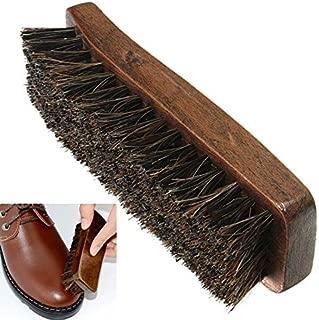 SUPVOX 2 Pcs Cirage /à Chaussures Brosse en Bois Cirage /à Chaussures Brosse Applicateur en Cuir Brosse de Polissage Chaussures Outils de Nettoyage