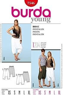 Burda Ladies & Mens Easy Sewing Pattern 7546 Harem Pants