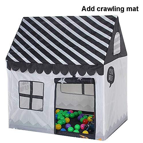 DFGHJKNN Tragbares Hauszelt Für Kinder,Einfach Zu Montieren,Für Den Innen-/Außen-/Gartenbereich,Tolles Geschenk Für Kinder Zum Spielen,No Ball,Add Crawling mat B