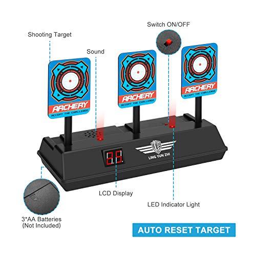 Keten Elektrische Zielscheibe für Nerf Pistole, Auto Reset Intelligent Light Sound Effect Scoring Target für Nerf N-Strike Elite/Mega/Rival Series (nur Ziel)