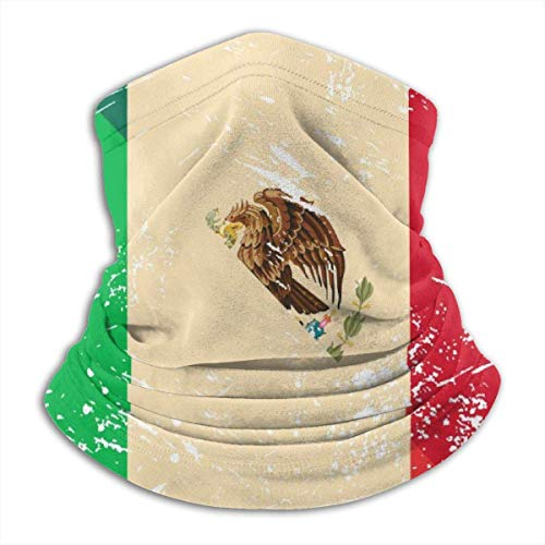 Polainas de cuello bandana, Italia y mexicano retro bandera cuello polaina secado rápido para el protector facial deportivo, 25 x 30 cm