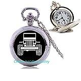 Jeep - Reloj de Bolsillo para Coche, Jeep Pocket Watch, Jeep Charm, Regalo Cristiano Colgante de Bolsillo, joyería de Amistad #5
