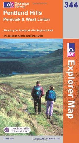 OS Explorer map 344 : Pentland Hills