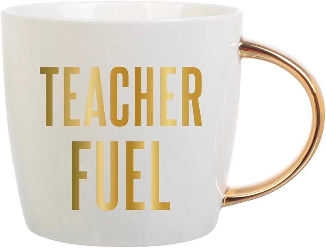 Teacher Fuel Coffee Mug 14 Oz White Ceramic Coffee Mug