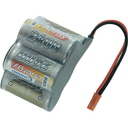 Conrad 206975 Pieza para maquetas radio control (RC) - Piezas para maquetas radio control (RC) (Batería, Níquel-metal hidruro (NiMH), 2400 mAh, 6 V, Sub-C, 290 g)