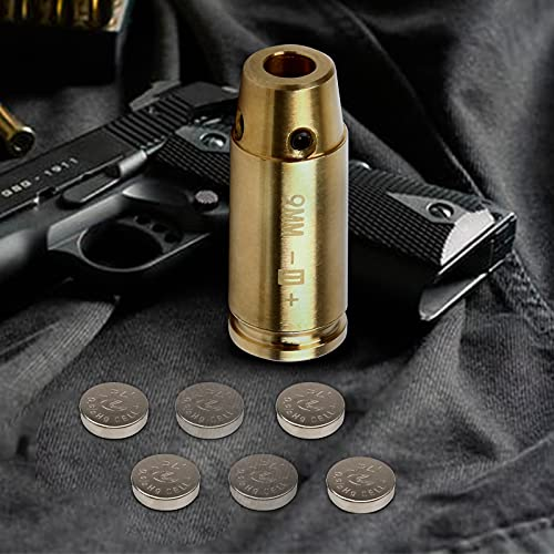 ANNCED 9MM Bore Sight Cal Laser Sight Red Dot Boresighter...