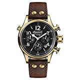 Ingersoll Men's The Armstrong Quartz Watch with Black Dial and Brown Leather Strap I02003