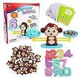 Georgie Porgy Monkey Balance Juego Matemáticas Escala Conteo de Números Juego para niños Juguetes educativos de Aprendizaje Regalos de Cumpleaños Herramienta de Enseñanza para Niños Niñas de años 3+