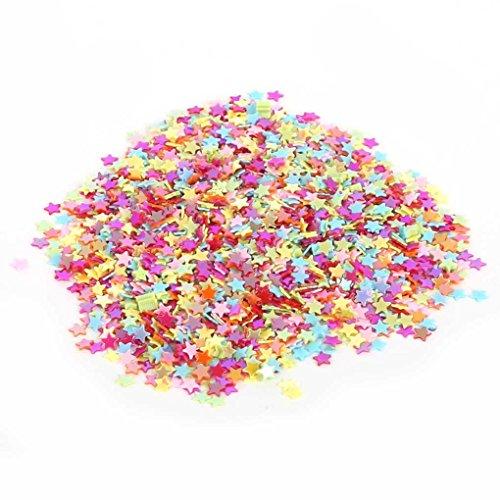 Bobury 3 mm 5000 unids corazón mixto estrella lentejuelas para uñas ropa Accssory diy artesanía scrapbooking arte de la boda fabricación de la joyería